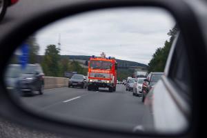 Feuerwehr Rückspiegel